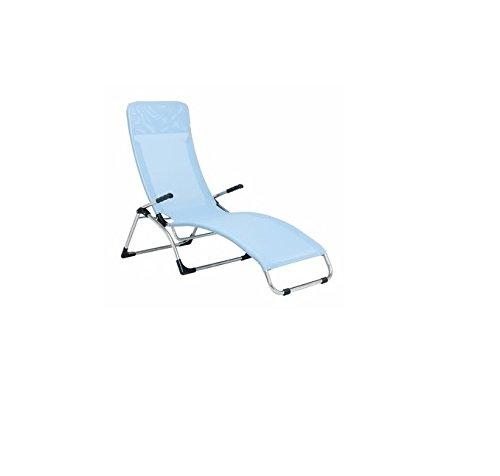 Jan kurtz chaise longue samba-matthias philipps vert pistache océan/vert citron, aluminium, textilène (fibres de polyester gainées de pVC) imperméable et anti-uv pour enfant