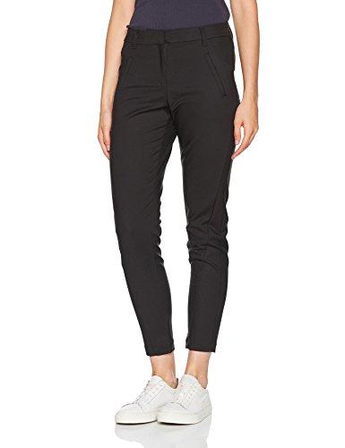 VERO MODA Damen Hose Vmvictoria NW Antifit Ankle Pants Noos, Schwarz (Black), Gr. 38 /L32 (Herstellergröße:M)
