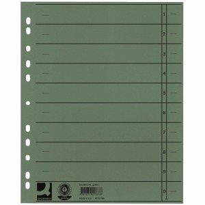Preisvergleich Produktbild Connect Trennblätter A4 230g/qm durchgefärbt grün VE=100 Stück