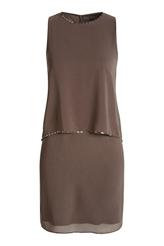 ... ESPRIT Collection Damen Kleid 026eo1e014-Lockerer Fall Braun (TAUPE 240) 689c11c71e