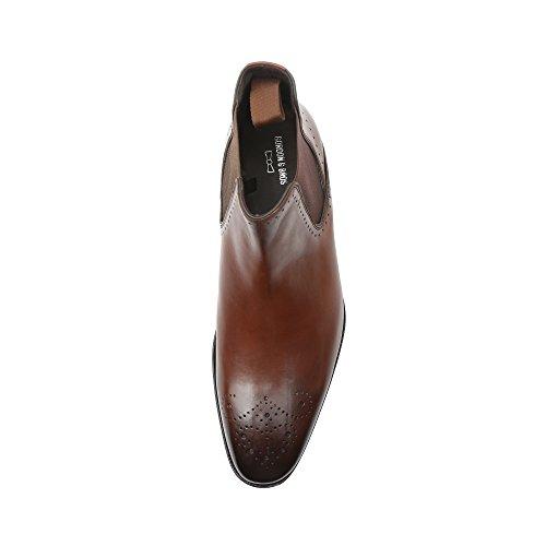 Gordon & Bros Herrenschuhe Alberto 623042 Klassischer rahmengenähter Stiefel und Chelsea Boot für Anzug, Business und Freizeit parma brown