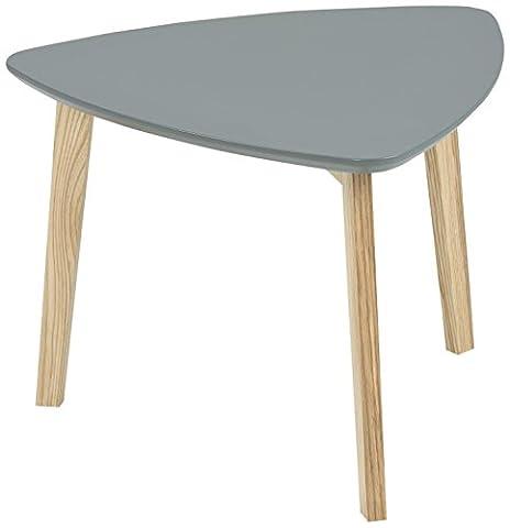 AC Design Furniture 60270 Ecktisch Mette, Tischplatte aus Holz, lackiert dunkelgrau