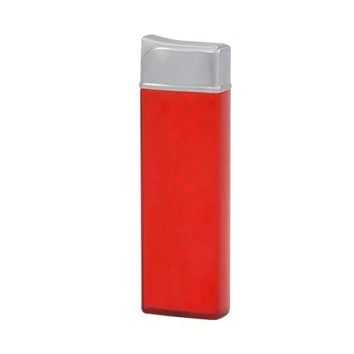 TESLA Lighter T12 | Lichtbogen Feuerzeug, Plasma Single-Arc, elektronisch wiederaufladbar, aufladbar mit Strom per USB, ohne Gas und Benzin, mit Ladekabel, Rot