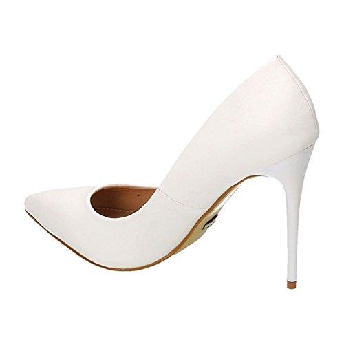 King Of Shoes, Escarpins Pour Femme Weiß