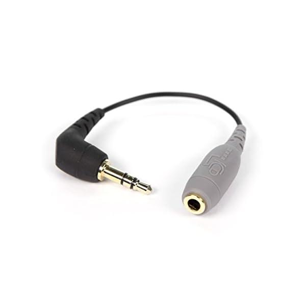 RODE SC3 Cavo Adattatore Minijack per Collegare lo SmartLav a Dispositivi con Ingresso 3,5mm (TRS), Nero