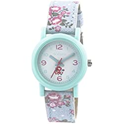 Tikkers children's quartz Watch with white Dial analogue Display and blue silicone Strap TK0104