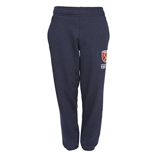 West Ham United FC - Jungen Fleece-Jogginghose - schmal - Offizielles Merchandise - Geschenk für Fußballfans - Dunkelblau - 12-13Jahre (XL)