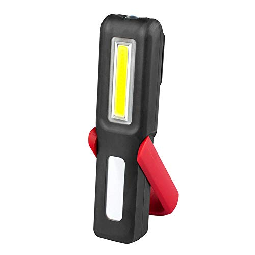 Lampe de Travail Baladeuse LED de travail pour atelier de ménage Utilisation en situation d'urgence en camping automobile avec crochet réglable pour pied et base magnétique