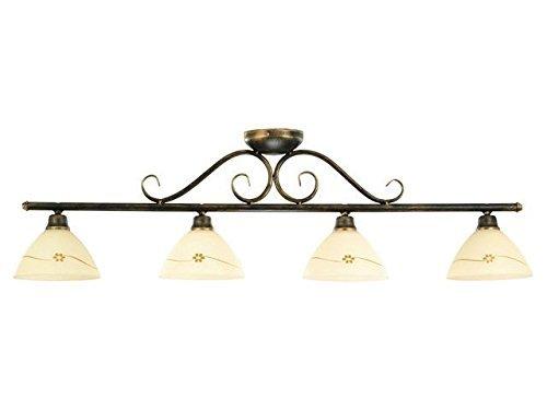 Rustico PLAFONIERA 4 x E27 per la sala da pranzo, soggiorno rustico soffitto luci lampade floreale a forma di lampadario soffitto lampada illuminazione interno