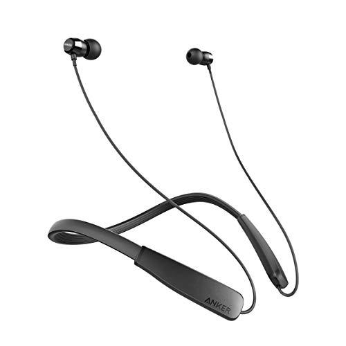 Anker SoundBuds Lite Bluetooth Kopfhörer, Leichtes Nackenband Headset, IPX5 Wasserfestes Sport In-Ear-Headset mit Geräuschreduzierung und In-Line Mikrofon (Schwarz)