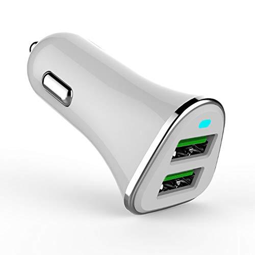 BSJZ USB Kfz Ladegerät, Ultra KOMPAKT 24W (5V/4,8A) Dual USB Autoladegerät Mit Aipower Technologie Für iPhone X/8/8 Plus/7, iPad Air/Pro/Mini, HTC, LG und Andere Geräte (Schwarz)