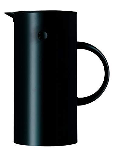 Stelton 935 Isolierkanne, schwarz, 0,5 l - Metall-krug Deckel Mit