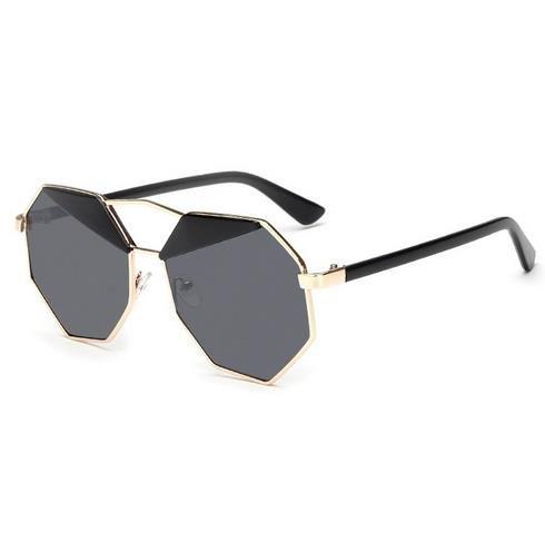 Aprigy Weibliche Sonnenbrille Frauen Gafas de sol Reflective Sommer-Rosa-Spiegel-Gl?ser [Schwarz]