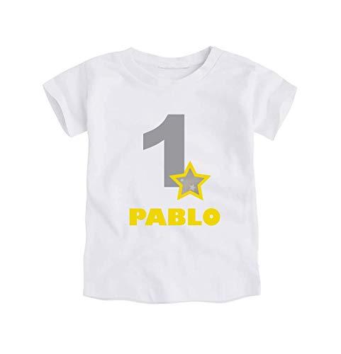 1 Añopersonalizado Nombre Con El Camiseta Cumpleaños Body O Primer Yyvbg7f6