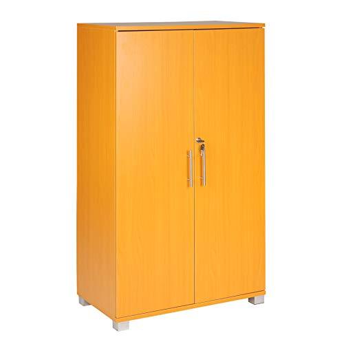 Armario archivador para oficinas, con cerradura, 3 estantes de almacenamiento, de 2...