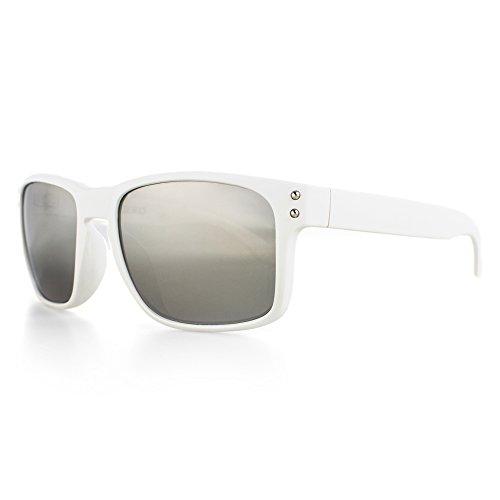 Distressed Superior Sonnenbrille viele Farben (weiss-verspiegelt)