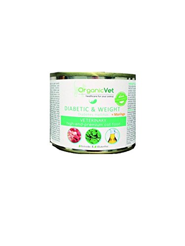 ORGA nicvet Chat Nourriture Humide Veterinary Diabetic & Weight, Lot de 6(6x 200g)