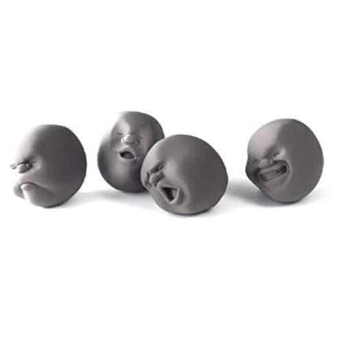 Anti-stress-gesicht (camellia Lustige Dekompression menschliches Gesicht Ball Anti-Stress-Spielzeug (schwarz))
