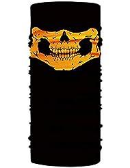 Angoter Unisex Skull Scarf anello teschio maschera di protezione Bandana Moto viso maschere maschio fascia del tubo del collo Foulard fascia per Uomo Donna (blu)