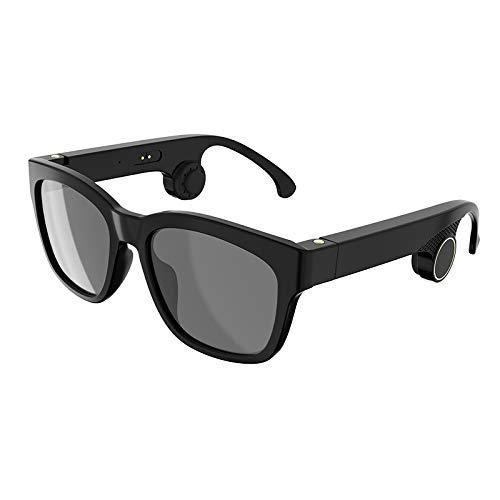 Smart Touch Knochenleitung Bluetooth-Brille, verhindern Blendung und UV-Objektive, geeignet für Laufen, Outdoor, Radfahren, Fahren,Black