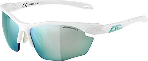 ALPINA Erwachsene Twist Five HR cm+ Sportbrille, White matt-Emerald, One Size