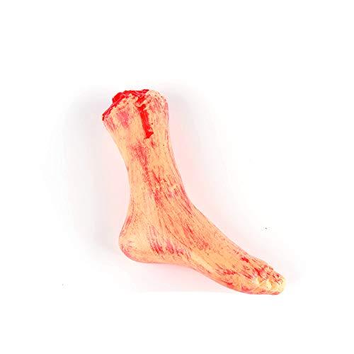 Xiton Horror Blutige Realistische Fake Abgetrennter Arm Gebrochene Hand Beine Körperteile Streich Trick Aprilscherz Halloween Party Requisiten (Gebrochener Fuß) 1 PC