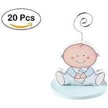 Lote de 20 Pinza Portafotos Bebé Azul Niño - Recuerdos, Detalles y Regalos Baratos Invitados