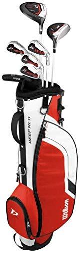 WILSON ProStaff Deep Red Premium Kinder Junior Golfset 11-14 Jahre