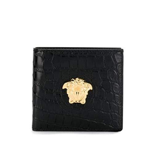 Versace Herren Dpu2463dcov5d41oh Schwarz Leder Brieftaschen