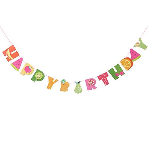ay Banner Papier Obst Girlande für Sommer Luau Tiki Party Geburtstag Party Dekoration ()