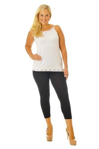 Nouvelle Collection Cropped Leggings Black 24-26