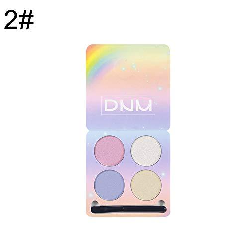 ngratyhJohn Fards à paupières,4 couleurs paupières fard à paupières palette surligneur visage correcteur maquillage correcteur 2