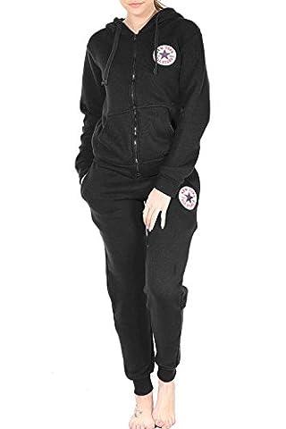Womens Ladies NEWYORK ALL STARS Loungewear Front Pockets Hoodie Zip