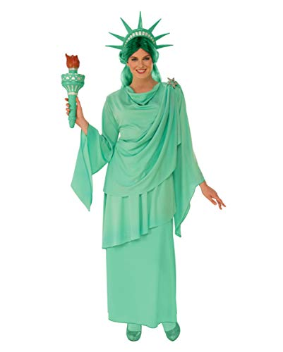 Horror-Shop Freiheitsstatue USA Kostüm für Frauen M