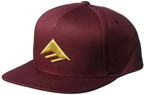 Emerica Herren Triangle Snapback Baseball Cap, burgunderfarben, Einheitsgröße