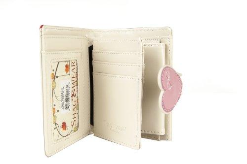 Shagwear portafoglio per giovani donne Small Purse : Diversi colori e design: busta gufo beige/ Letter