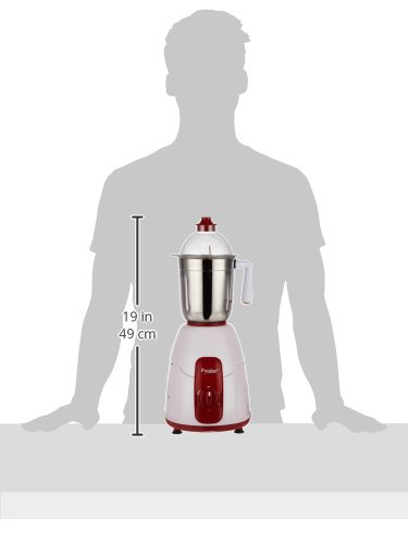 b90a12ac6bd Prestige Elegant 750-Watt Mixer Grinder with 4 Jars (Red)