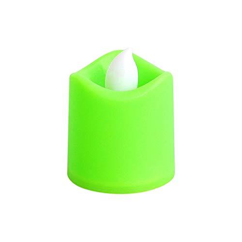 Prevently Elektronische Kerze LED-Licht, Outdoor Plastik Kerzen Mini Bunte romantische elektronische...