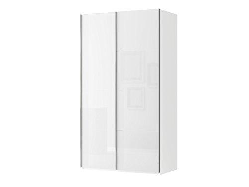 Metall wei/ß Abmessungen BxHxT: 82 x 12,5 x 35 cm Wei/ßglas MAJA-M/öbel 1603 9476 TV-Board