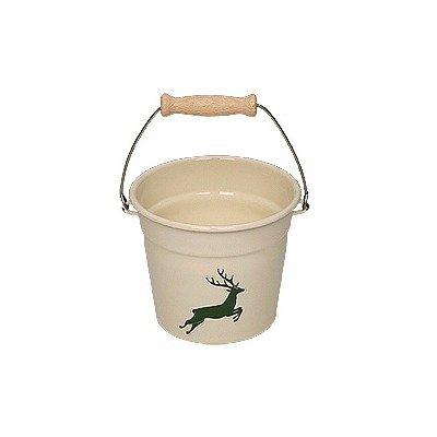 riess-kelomat-country-cervo-verde-smaltato-mini-secchio-16-cm-oe