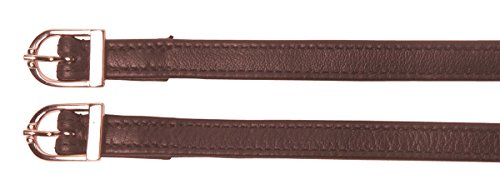 Cheval Sporenriemen aus Leder braun - Ledersporenriemen 12 mm breit 47 cm lang