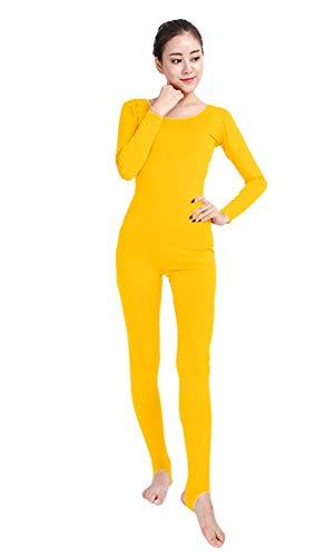 Gelb Kostüm Für Erwachsene M&m - Insun Unisex Bodysuit Zentai Ganzanzug Kostüm Ganzkörperanzug Fasching für Erwachsenen Gelb M