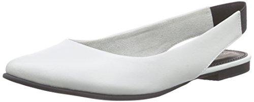 s.Oliver 29400, Damen Slingback Ballerinas, Weiß (WHITE 100), 37 EU (4 Damen UK)