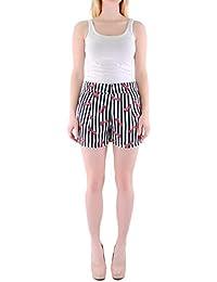 a221e38f290 Cutie Black Ribbon Print Striped Shorts