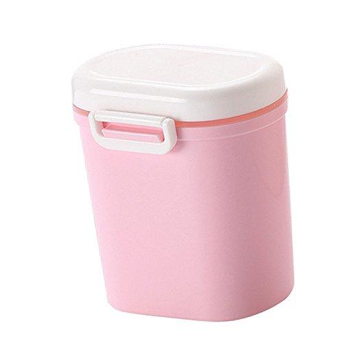 Baby Milchpulver Container-Portable Milchpulver-Spender BPA frei Lebensmittel Snacks Obst Lagerung Große Kapazität Milchpulver Box für Infant Kleinkind Kinder-Anzug für Reisen und Ausgehen (Rosa) (Milchpulver-box)