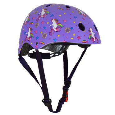 KIDDIMOTO Fahrrad Helm für Kinder/Fahrradhelm/Design Sport Helm für Skates, Roller, Scooter, laufrad - Einhorn - S (48-53cm)