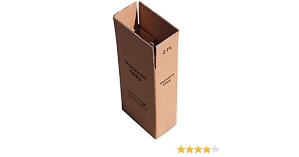 5 x 2er Weinkarton Versandkarton 2-wellig f/ür 2 Flaschen UPS und DHL gepr/üft