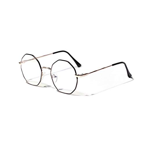 WULE-RYP Polarisierte Sonnenbrille mit UV-Schutz Rautenförmige Metallmode-Computer-Brille klare Linse. Superleichtes Rahmen-Fischen, das Golf fährt (Farbe : Golden)