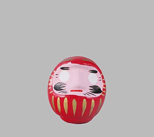 Japonés amuleto de la buena suerte de Daruma, rojo para la felicidad en todas las cosas, de 9 cm
