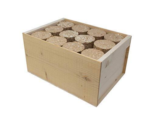Bricchetti di legno naturale lunga durata prodotto e confezione 100% ecologico